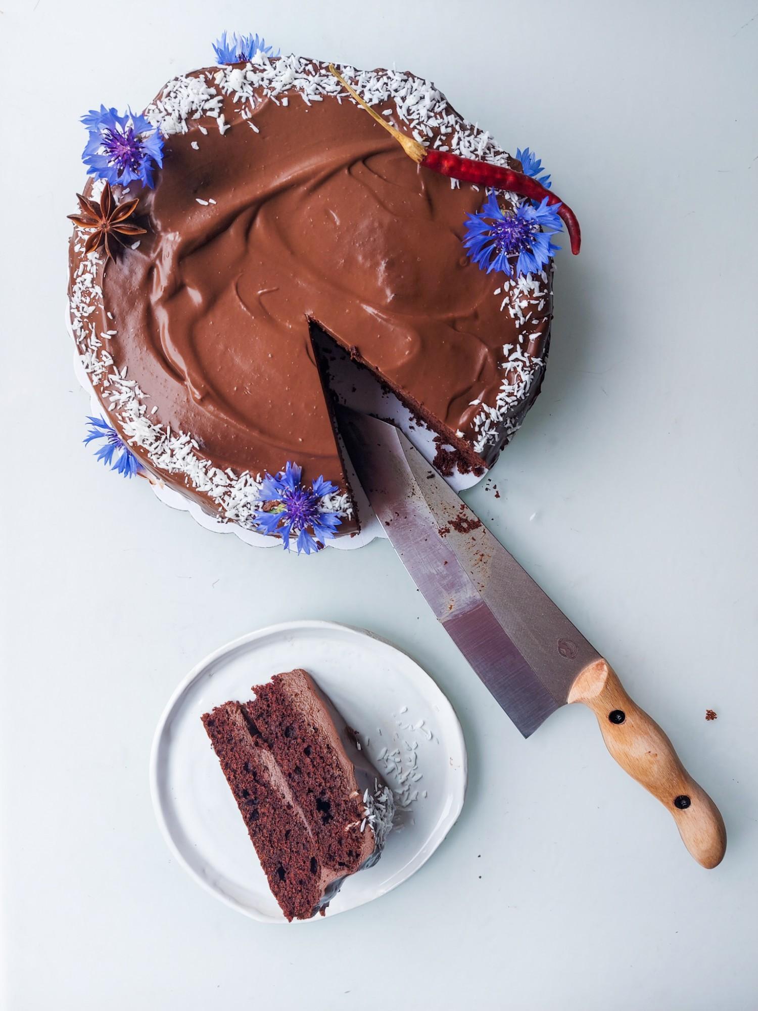 Mexicaanse chocoladecake met Warmoes